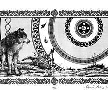 Zoomorphic projections – Grey Wolf by Alexi Fridt
