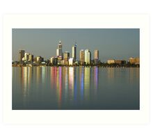 Perth Skyline Art Print