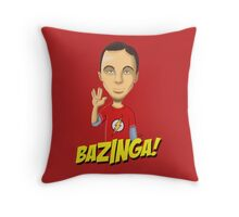 Sheldon Cooper Bazinga! Throw Pillow