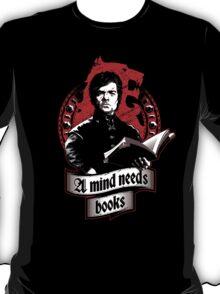 A Mind Needs Books (Red) T-Shirt