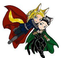 Kitty Thor and Loki  by TreeMuse