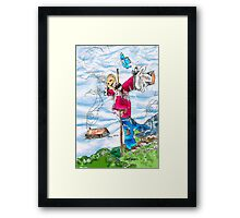 Scarecrow Dancing in the Wind Framed Print