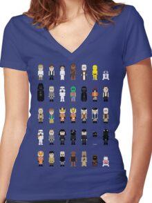 8-Bit SW Women's Fitted V-Neck T-Shirt
