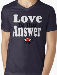 Love is the Answer; God is Love - white Mens V-Neck T-Shirt