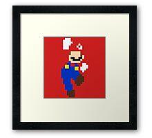 Mario pixel Framed Print