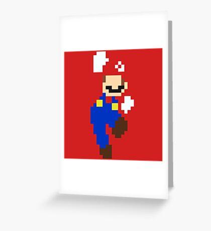 Mario pixel Greeting Card