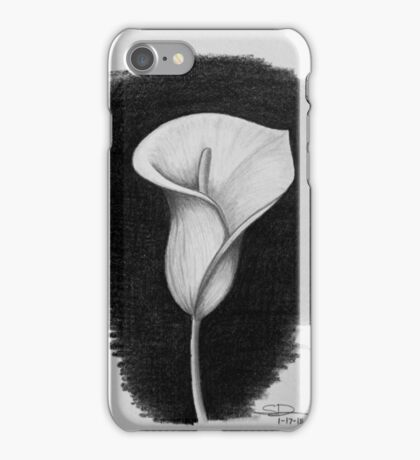 1 Hour Sketch - Lily iPhone Case/Skin