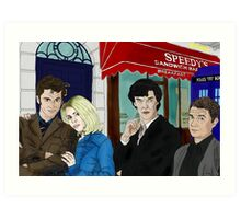 WhoLock On Baker Street Art Print
