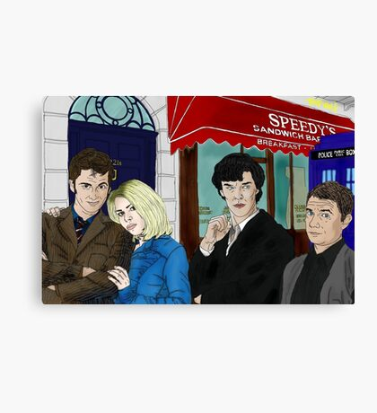 WhoLock On Baker Street Canvas Print
