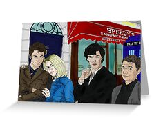 WhoLock On Baker Street Greeting Card