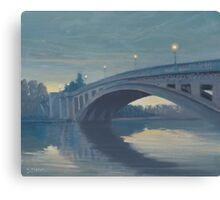 Reading Bridge at Night. Canvas Print