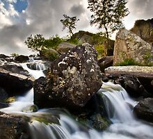 Ogwen Valley Waterfall by igotmeacanon