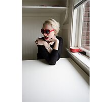Coffee in Black and Red Photographic Print