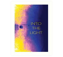 Psychmaster Pink Yellow Blue Into The Light Art Print