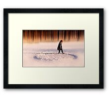 The endless walk Framed Print