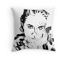 inked in the 50s Throw Pillow