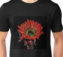 Neon Red Sunflower Unisex T-Shirt