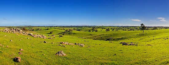 The rolling fields of Strathalbyn by AllshotsImaging