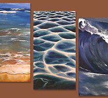 Beach triptych by hatefueled