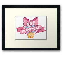 Bee and Puppycat Logo Framed Print
