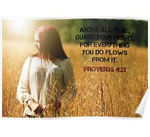 Proverbs 4:23 Poster