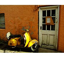 Vespa At The Door Photographic Print