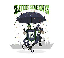 Seattle Seahawks Coat of Arms Photographic Print