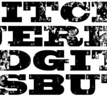 Supernatural - Bitch Jerk Idgit Assbutt Sticker