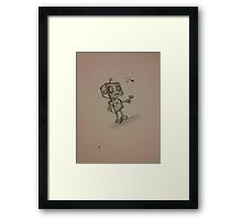 Robot love Framed Print