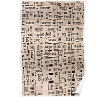 Woven Words Poster