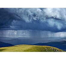 Heavy rain in mountains Photographic Print