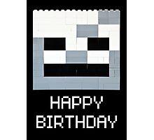 Scull Birthday Greeting Photographic Print