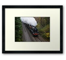Footplate Glow Framed Print