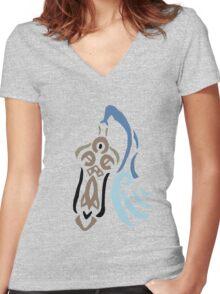 Honedge Stencil Women's Fitted V-Neck T-Shirt