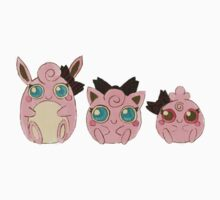 Pokemon - Puffs in a Row Design Kids Clothes