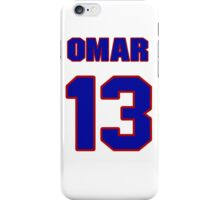 National baseball player Omar Infante jersey 13 iPhone Case/Skin