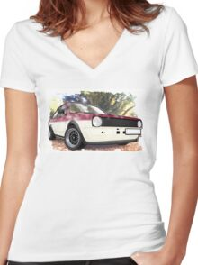 Polo Saloon Women's Fitted V-Neck T-Shirt