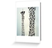 Lattuce Tower with Cell Phones Greeting Card