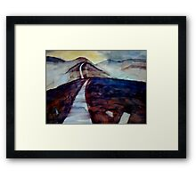 there are only two escapes - painting and travel Framed Print