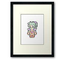 Pixel Terra Framed Print