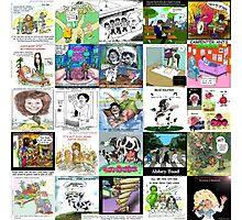 Music Collage by Londons Times Cartoons  Photographic Print