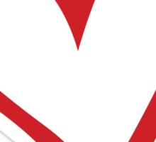 #BeARipple...Gratitude Red Heart on Black Sticker