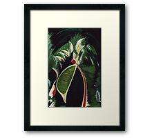 Lifting Lime Framed Print