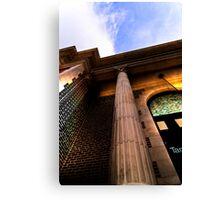 Ybor Train Station HDR Column Canvas Print
