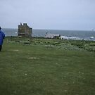Jim and bet on Farne off Sea Houses Bamburgh Northumberland England 198405280017m  by Fred Mitchell