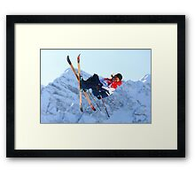 Skier Framed Print
