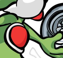 Yoshi throwing turbo Sticker