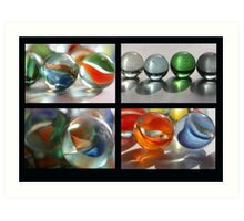 Marbles Collage Art Print