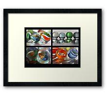 Marbles Collage Framed Print