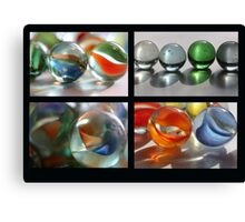 Marbles Collage Canvas Print